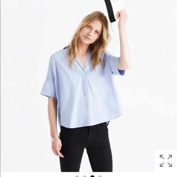 c0de056ef2f Madewell Tops - madewell courier button back shirt